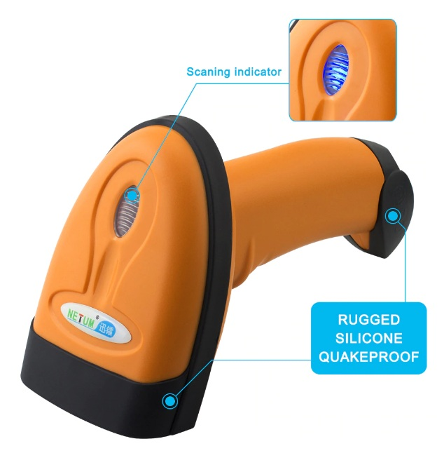 NT-1228 Wired 2D QR Barcode Scanner - Indication Light
